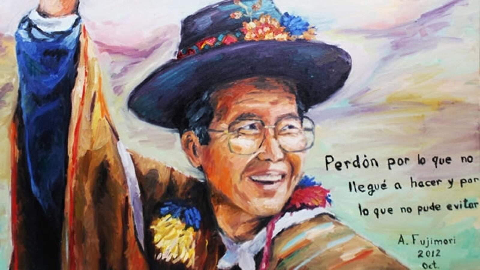 Alberto Fujimori pide perdón en un autorretrato