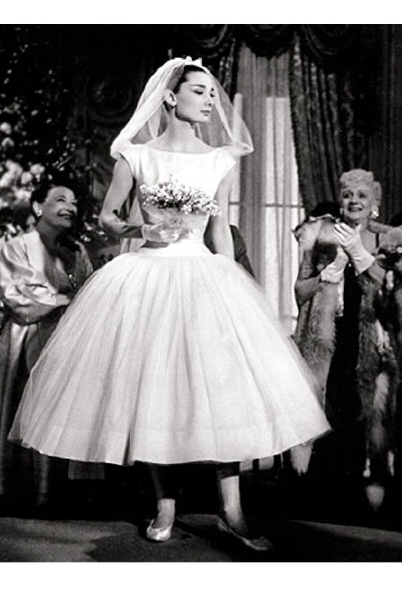 Audrey Hepburn en `Funny Face´a finales de la década de los cincueta.
