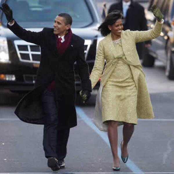 El presidente Barack Obama y su esposa Michelle caminaron por la Avenida Pennsylvania en el tradicional desfile inaugural.