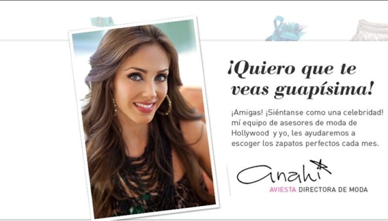 La actriz mexicana presentó a sus seguidores de Twitter, un nuevo sitio web que te invita a descubrir tu look ideal.