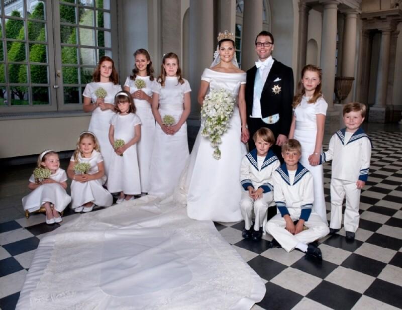 La pareja lució radiante en el Palacio Real de Suecia.