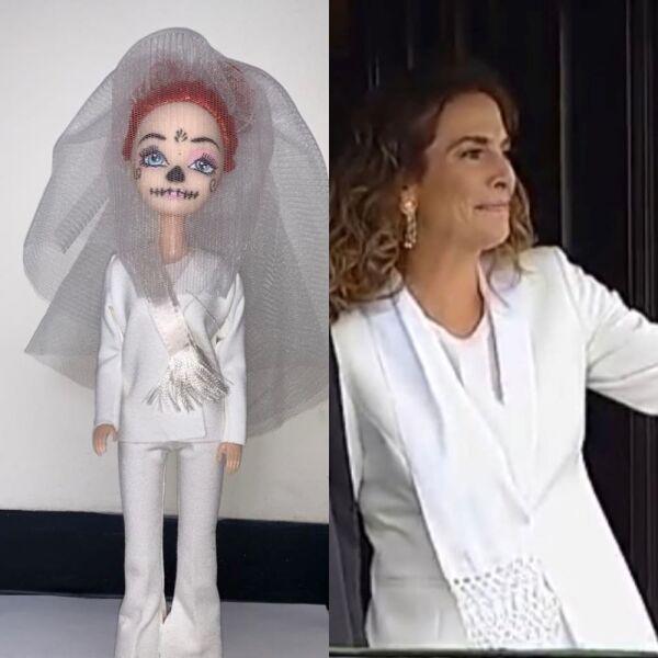 Recrean vestido de Beatriz Gutiérrez para una muñeca 2.jpg