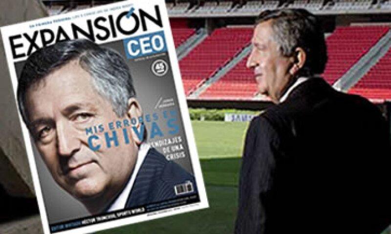 Los opinadores del futbol siempre lo acusan de meterse de más en la operación del equipo de futbol. (Foto: Ramón Sánchez Belmont / Revista Expansión)