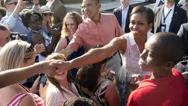 Además de festejar el día de la independencia de EUA, la pareja presidencial celebró los 15 años de su hija. Ofrecieron una magnífica recepción en la Casa Blanca para las familias de militares.