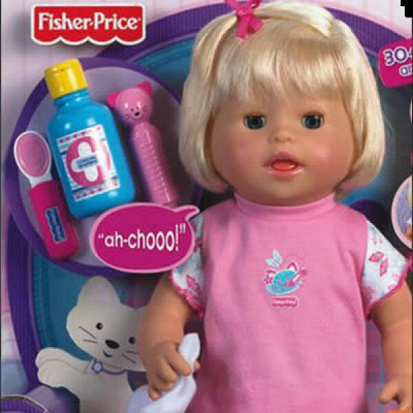 Esta época navideña será un respiro para la industria juguetera, la cual crecerá un 2% a fin de año. En la foto, una muñeca que tiene movimiento propio y además habla.
