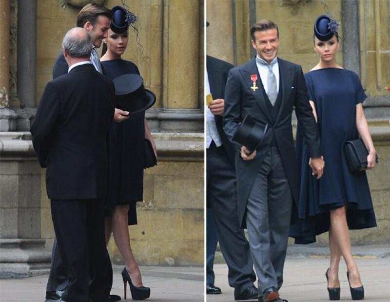 Cuando Victoria acudió a la boda real, estaba esperando la llegada de Harper Seven.