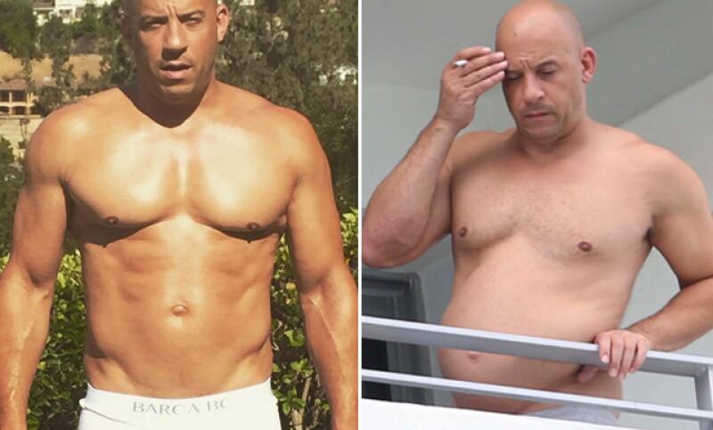 """El protagonista de """"The Fast & Furious"""" dejó en shock tanto a sus fans, así como al internet, al ser captado en el balcón de un hotel de Miami viéndose con sobrepeso."""