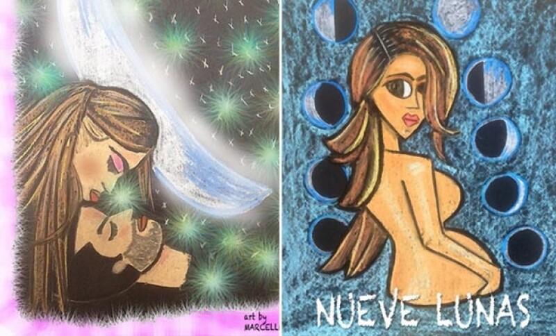 Un amigo cercano les regaló este par de pinturas, las cuales publicó en Instagram, y es que aún no están listos para presentar a la pequeña Regina.