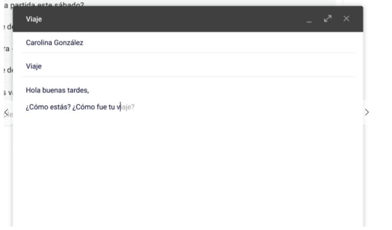 Smart Compose de Gmail