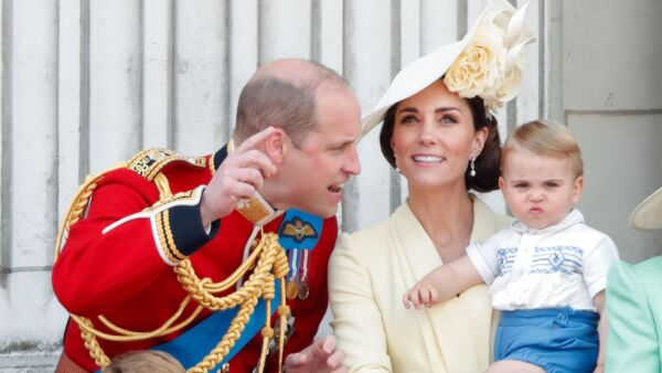 Príncipe William, príncipe George, princesa Charlotte, Kate Middleton y el príncipe Louis