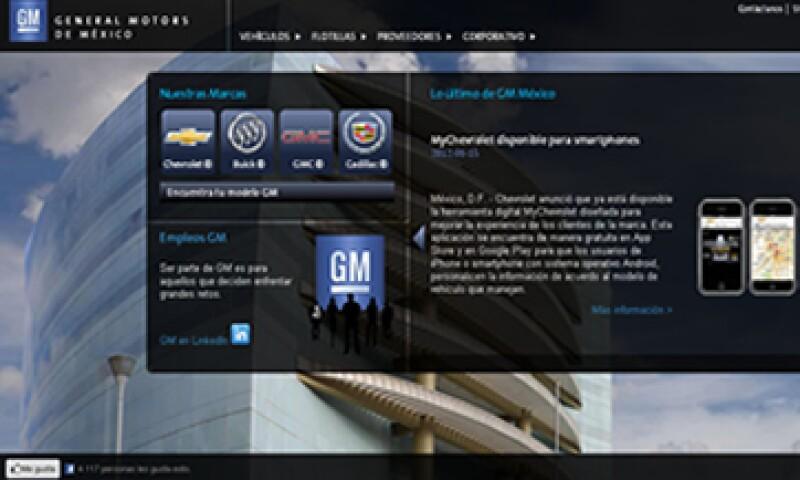 La edad promedio de los internautas de GM está entre 15 y 24 años. (Foto del sitio gm.com.mx)