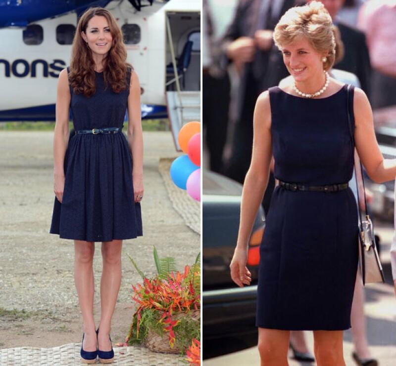Hoy la princesa más querida en la historia de Gran Bretaña habría cumplido 55 años, por lo que recordamos las veces en las que su nuera le ha rendido tributo con sus outfits.