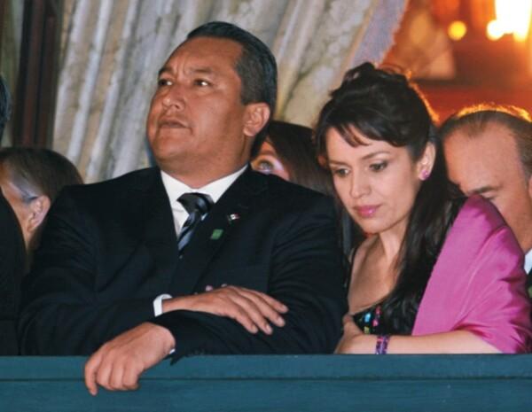 Francisco Blake y su esposa, Gloria Cossío, en la pasada celebración del 15 de septiembre.