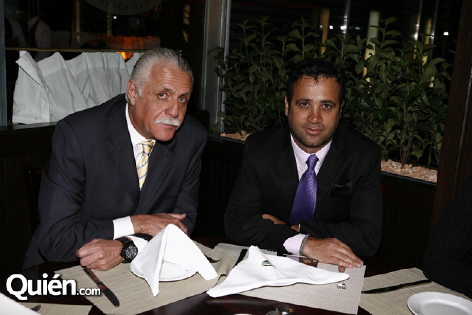 Rafael Herrerías y Roberto Slim