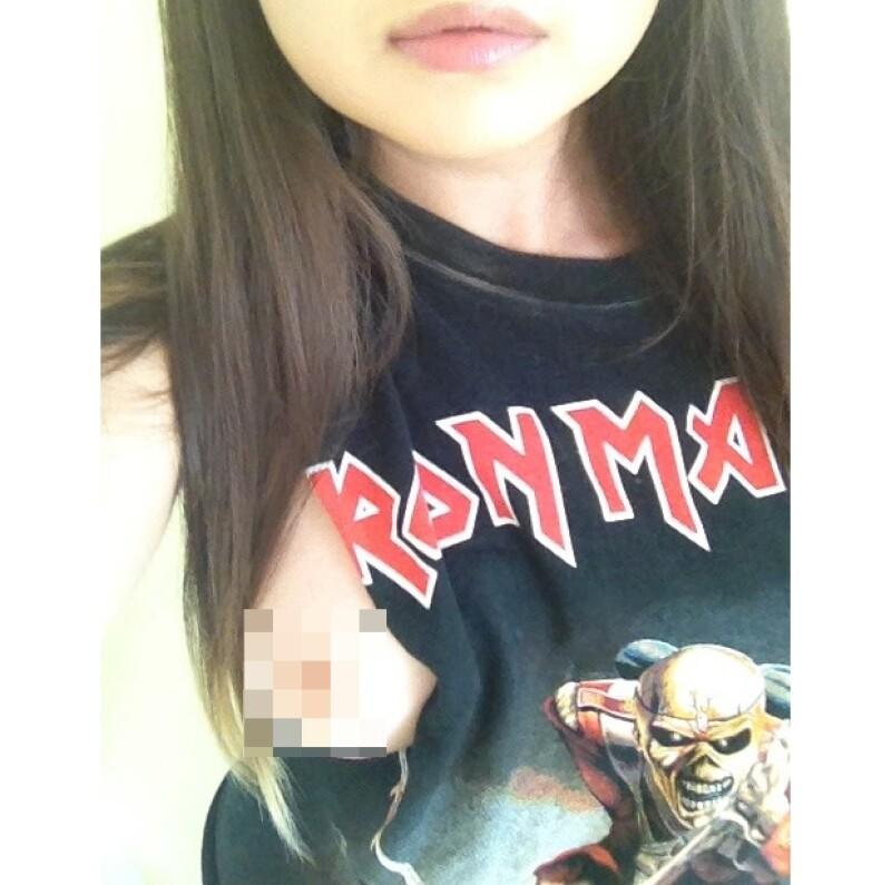Son varias imágenes las que se filtraron, incluyendo algunas en las que sí posó con algo de ropa.