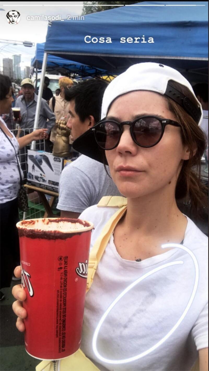 Camila Sodi en la Lagunilla
