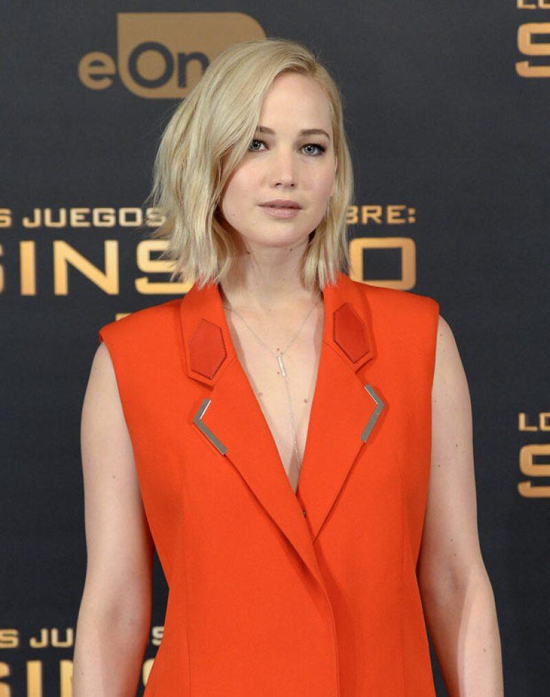 Jennifer Lawrence actualmente se encuentra promocionando la última entrega de la saga The Hunger Games.