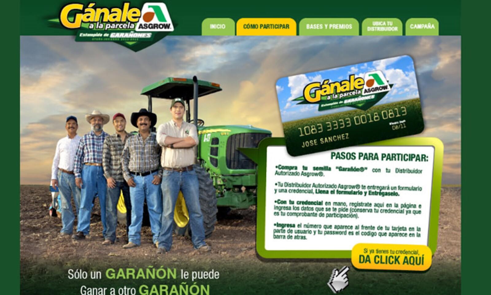 A través de su portal Gánale a la parcela, la marca semillera Monsanto Producción y Servicios ha buscado elevar el nivel de interacción con el agricultor.