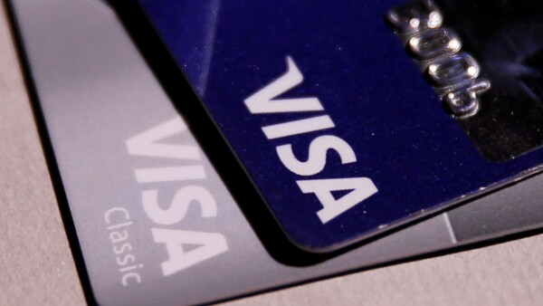 FILE PHOTO: View shows VISA credit cards