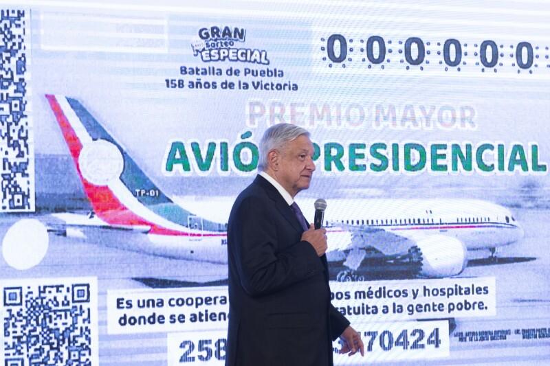 AMLO rifa avión presidencial