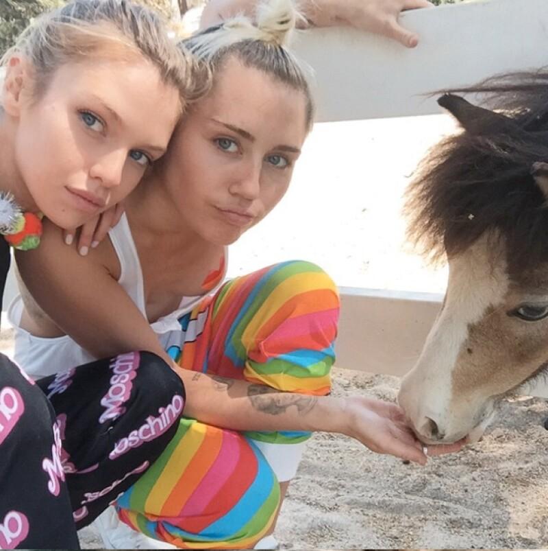 A mediados de año Miley mantuvo un beve pero muy intenso romance con la modelo Stella Maxwell.