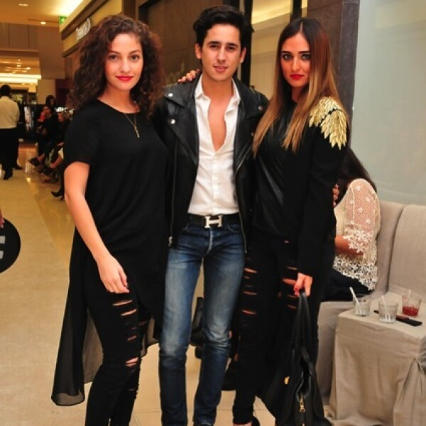 Valeria Villegas,Rodrigo Mora y Alexia Villegas