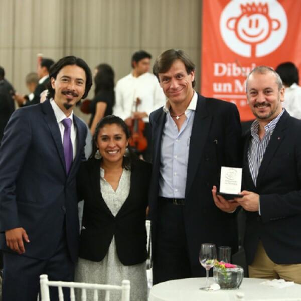 Carlos Mendieta, Ana Enciso, Jaime Cámara y Ramón Maraboto