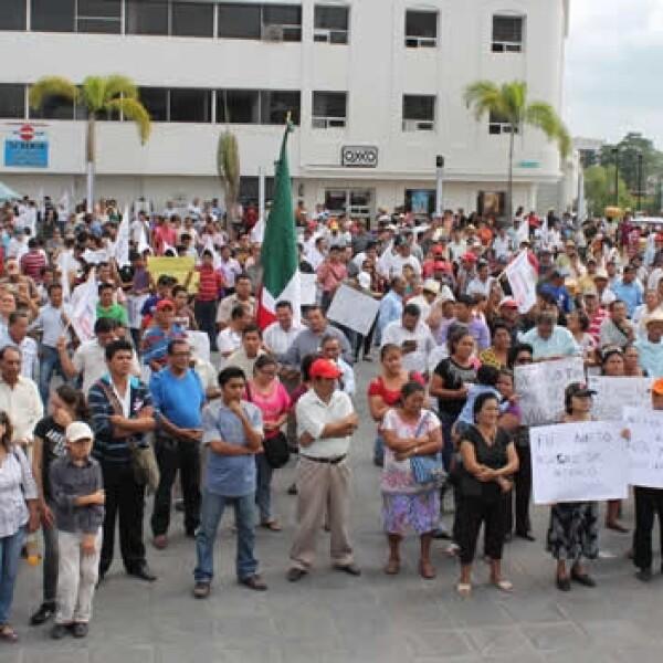 protesta de integrantes de morena