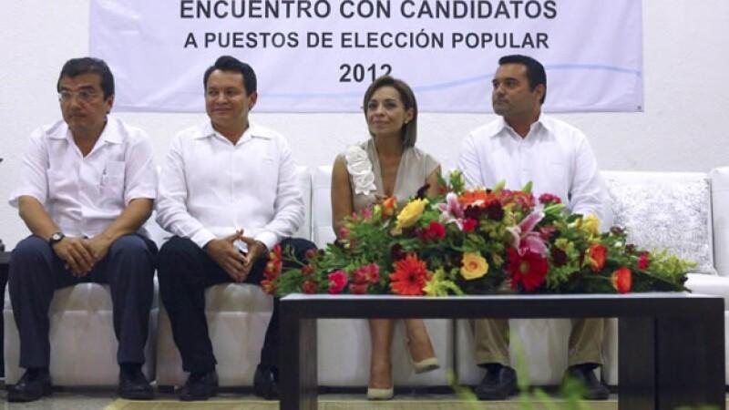 Vazquez Mota se reune con candidatos locales en Yucatan