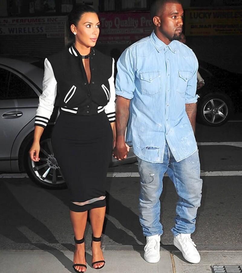 Kim lleva alrededor de seis meses de noviazgo con el cantante de hiphop.