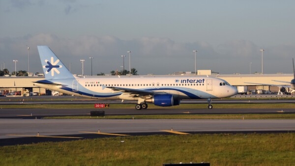 Interjet passenger airplane seen in Miami