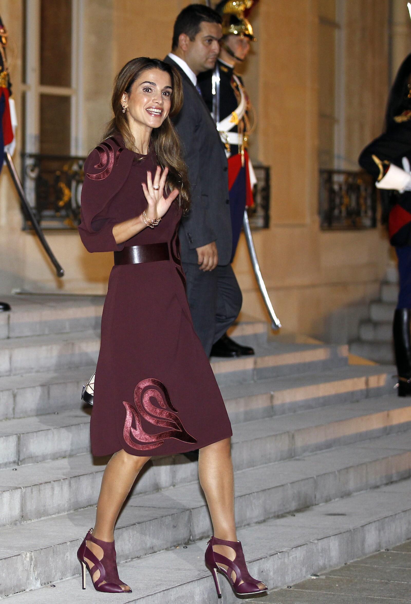 French President Francois Hollande Receives King Abdallah II of Jordan At Elysee Palace in Paris