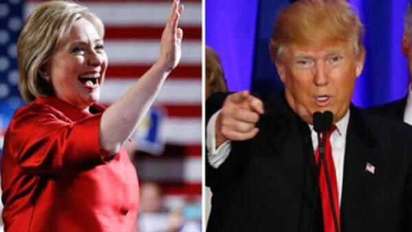 Hillary Clinton y Donald Trump buscan ser el próximo presidente de EU. (Foto: Especial)