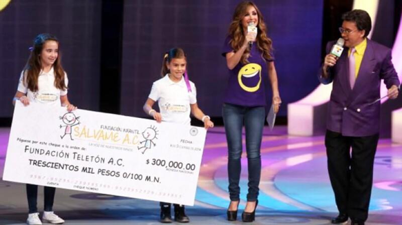 Anahí donó 300 mil pesos en nombre de su fundación `Sálvame´.