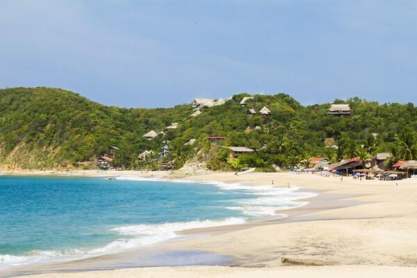 Mazunte beach in Mexico