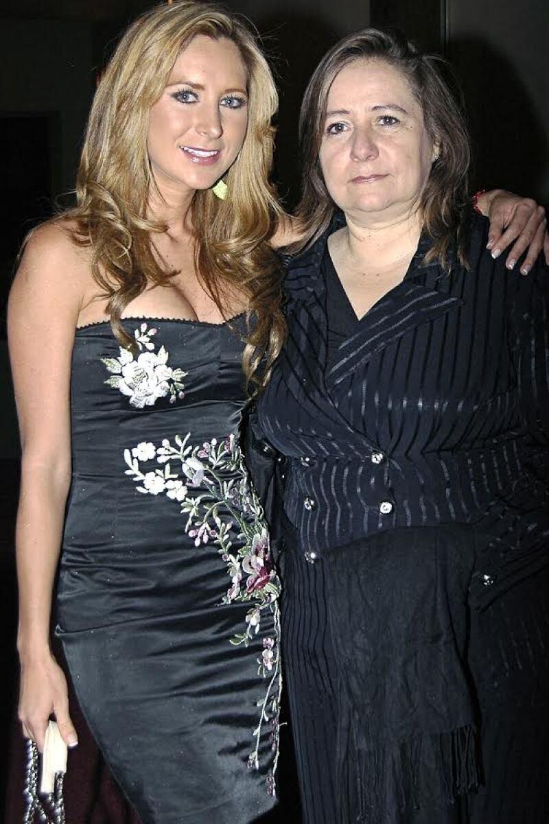 Geraldine Bazán y su mamá