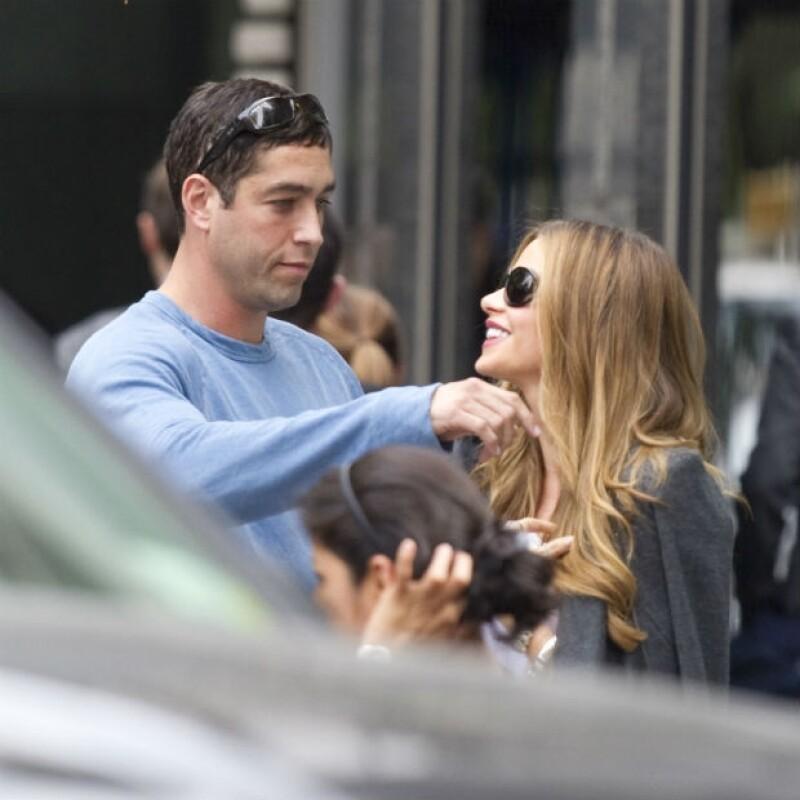 La foto demuestra que Nick Loeb todavía es capaz de hacer reír a Sofía Vergara.