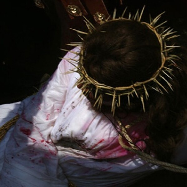 Jesus derribado Iztapalapa
