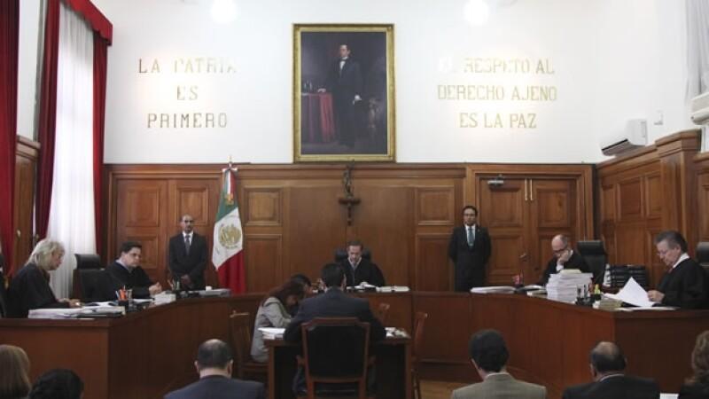 La Primera Sala de la Suprema Corte de Justicia de la Nación durante una sesión