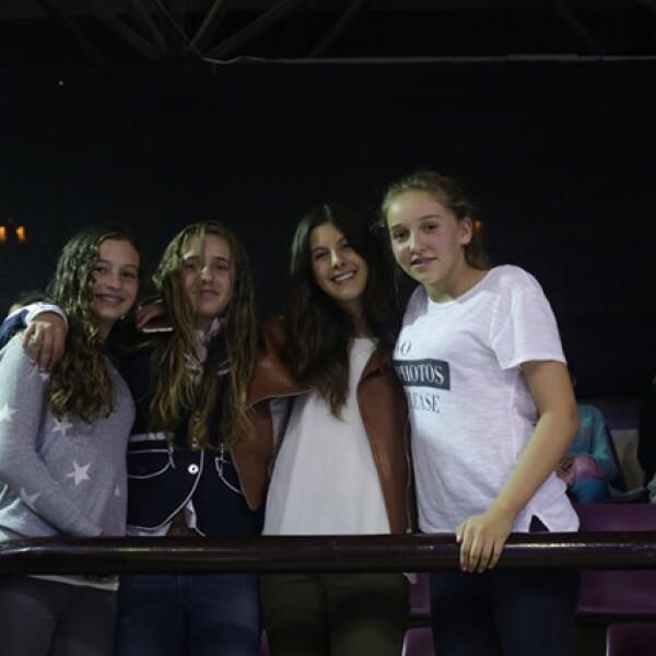 Martina Santaella,Karime Núñez,Nicole Meyer y Federica García