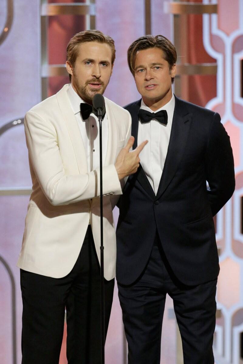 Esta edición de los Golden Globes nos dejó una gran pregunta: ¿Quién es más guapo, Brad o Ryan?