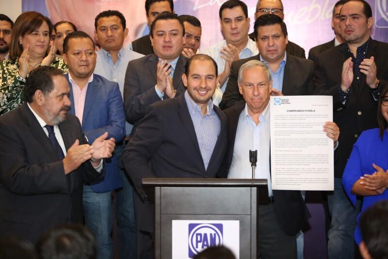 Panistas con Enrique Cárdenas