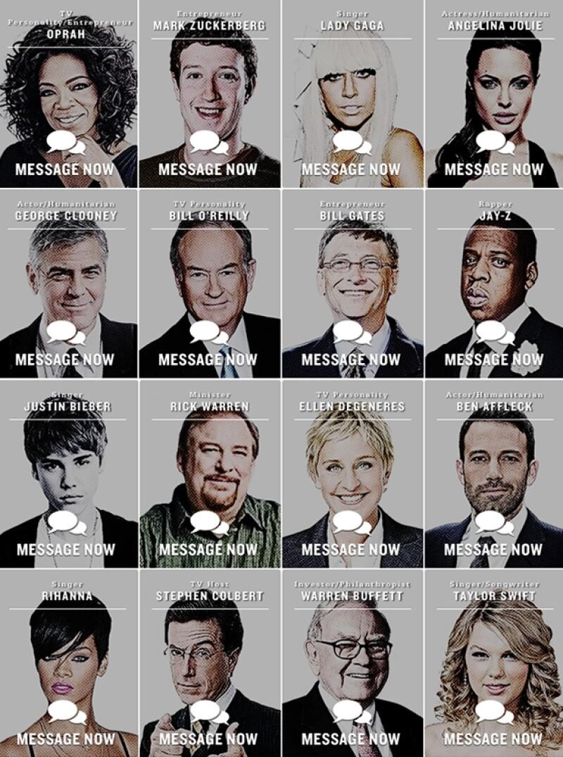 Algunos de los famosos involucrados en el proyecto.