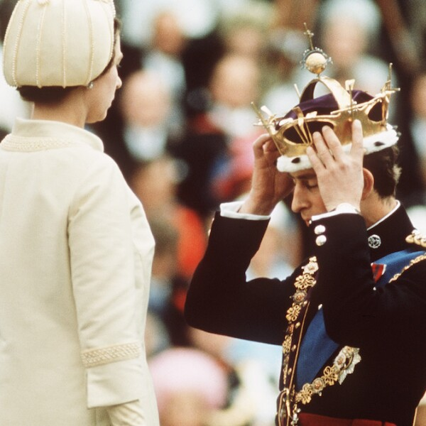 GBR: Queen Elizabeth II crowns Prince Charles, the Prince of Wales
