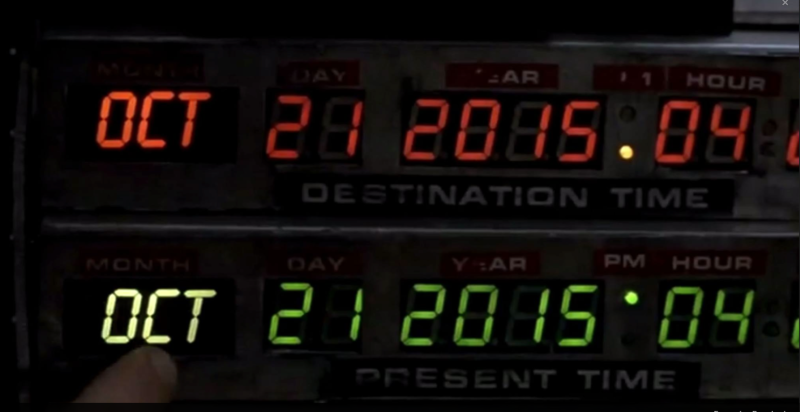 Back to the Future fue filmada en 1985.