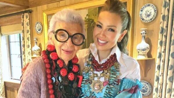 Iris Apfel y Thalía