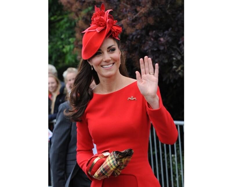 El rojo es uno de los colores favoritos de la Duquesa.