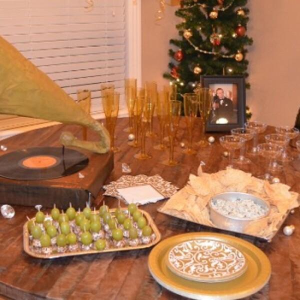 comida y decoracion fiesta 1920