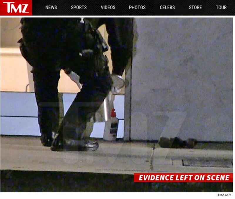 La policía encontró los objetos con los que el desconocido cometió el delito.
