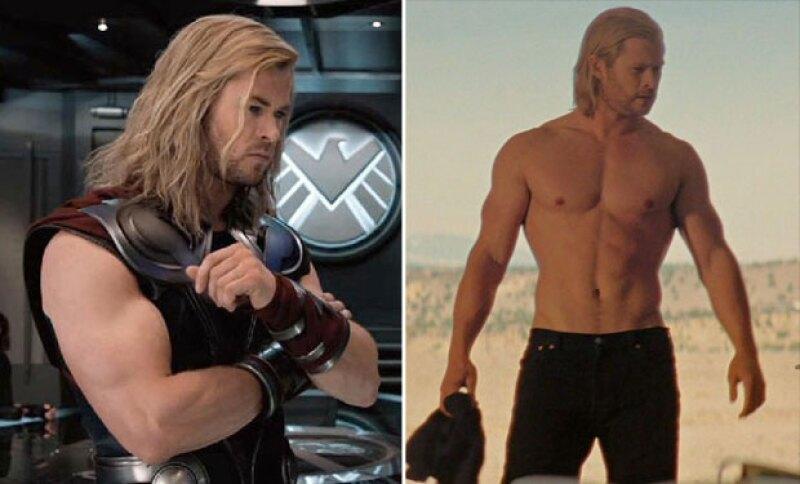 En su nueva película, el actor para nada luce como el legendario Thor.